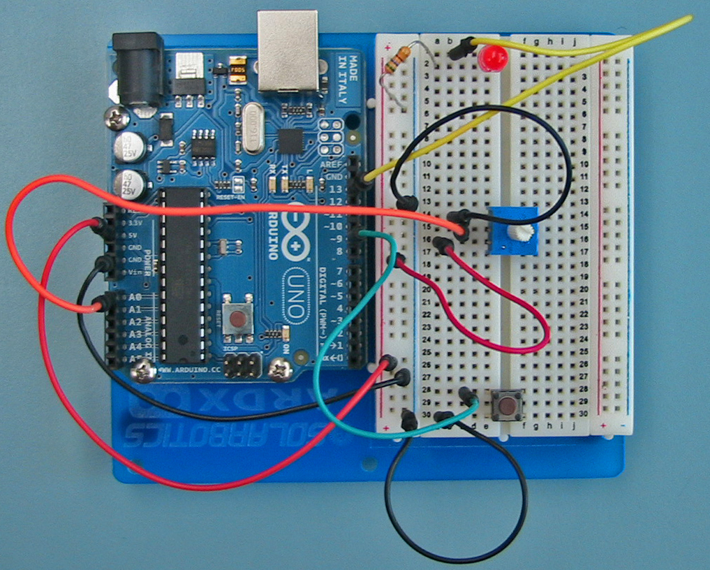 Sensing Computing And Actuating Lab 1 Built The Circuit Described Here On My Protoboard Http Wild Switch Is Attached As In Introduction Just Like Before Simply Add This To One You Have Already That